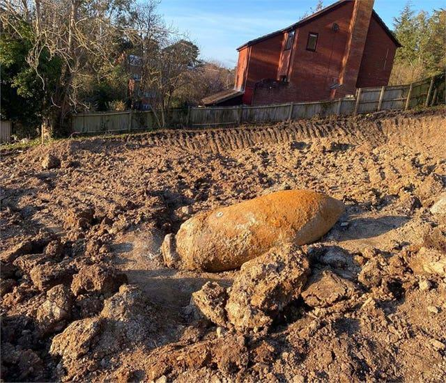 Exeter unexploded Second World War bomb