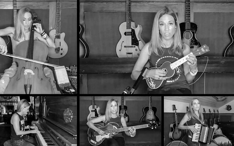 Sheryl Crow played everything from cello to drums for her guest appearance - Retna/Avalon