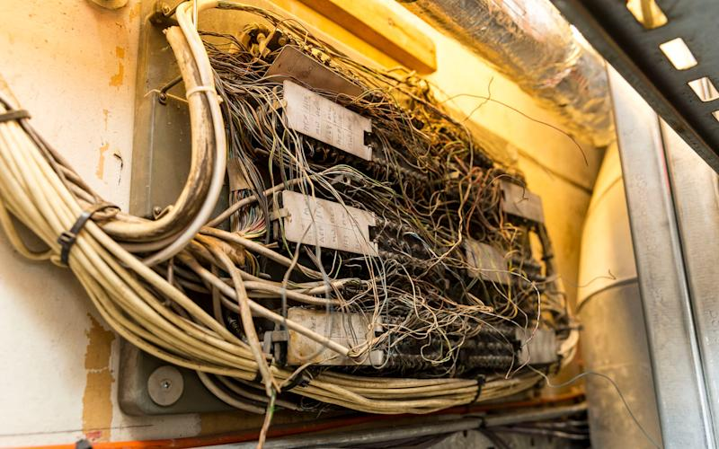 Exposed cables at Parliament - Credit: Telegraph