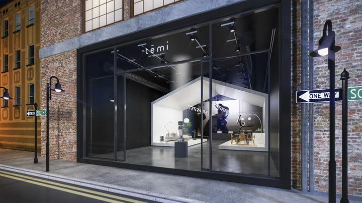 Temi brick and mortar store