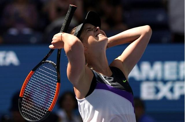 Elina Svitolina reached a second straight Grand Slam semi-final at the US Open (AFP Photo/Kena Betancur)