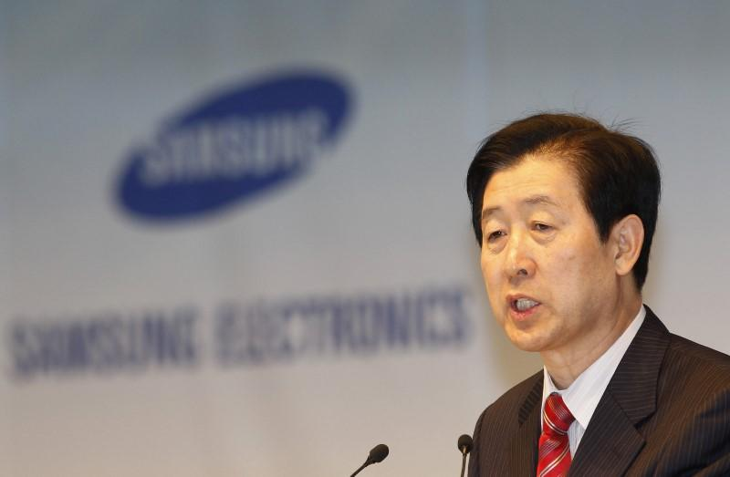 Choi Gee-sung speaks during an annual shareholders' meeting at the company headquarters in Seoul