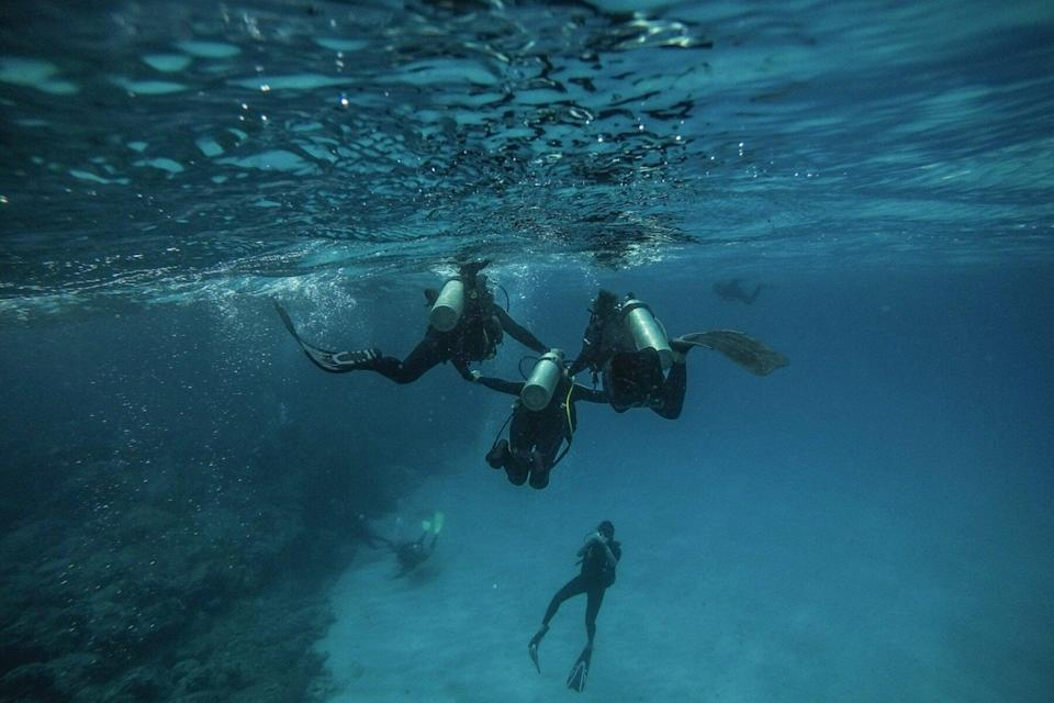 Scuba diving on Easter Island