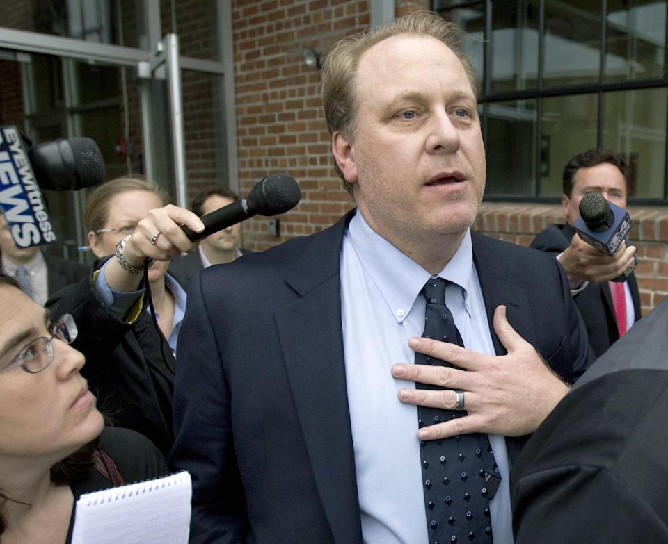 Curt Schilling, circa 2012, after his video-game company declared bankruptcy. (AP)