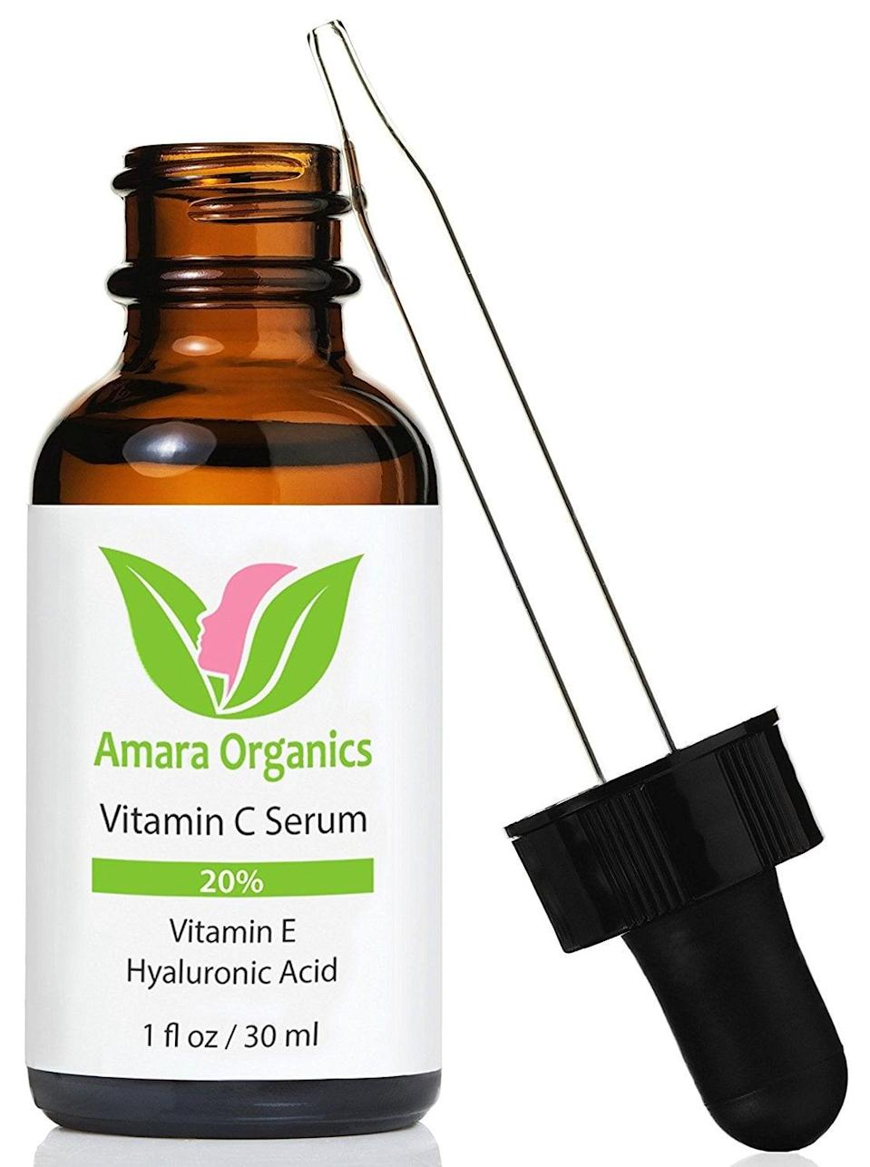 <p>With nearly <em>4,000</em> reviews, this <span>Amara Organics Vitamin C Serum</span> ($18) has shot to the top of Amazon's bestselling serums. The quick-absorbing serum fades age spots, clears acne, and softens fine lines. </p>