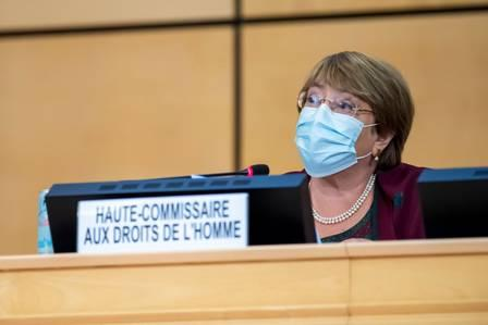 89584338_High Commissioner for Human Rights Michelle Bachelet speaks during the opening of 45th.jpg