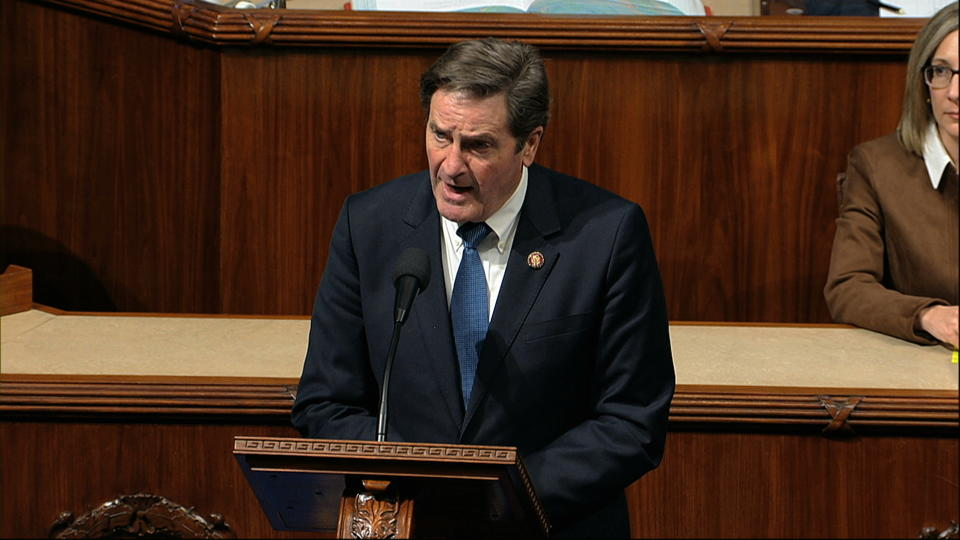 Rep. John Garamendi, D-Calif., speaks on the House floor as the House of Representatives debates the articles of impeachment against President Donald Trump at the Capitol in Washington, Wednesday, Dec. 18, 2019. (Photo: House Television via AP)