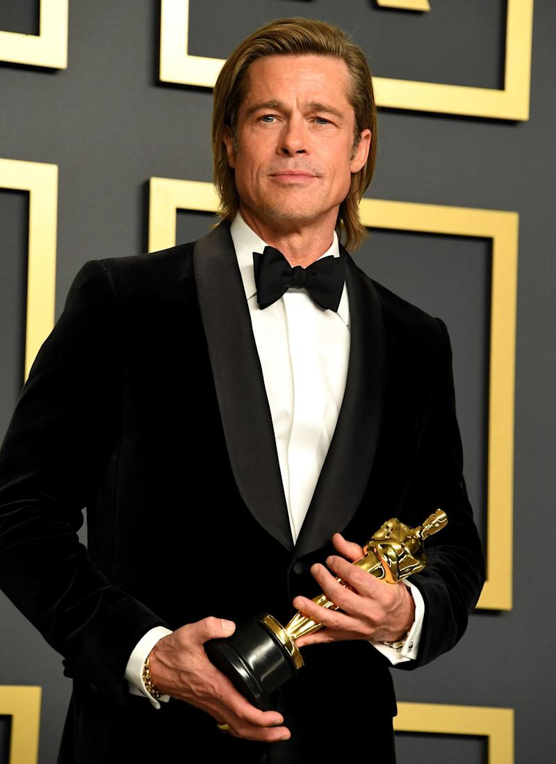 Brad Pitt wins the Oscar for Best Supporting Actor (PA)