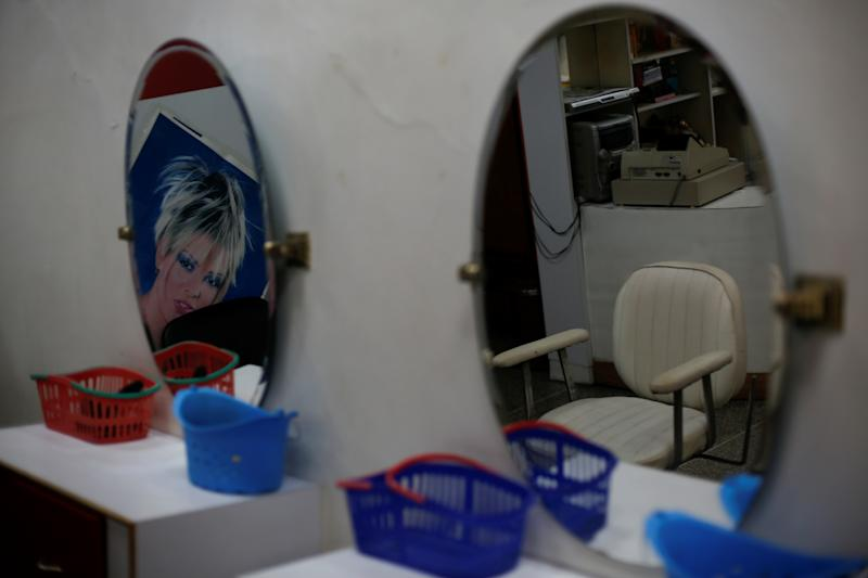 A hair salon that was the workplace of Maroly Bastardo, in El Tigre, Venezuela, on June 4. (Photo: Ivan Alvarado/Reuters)