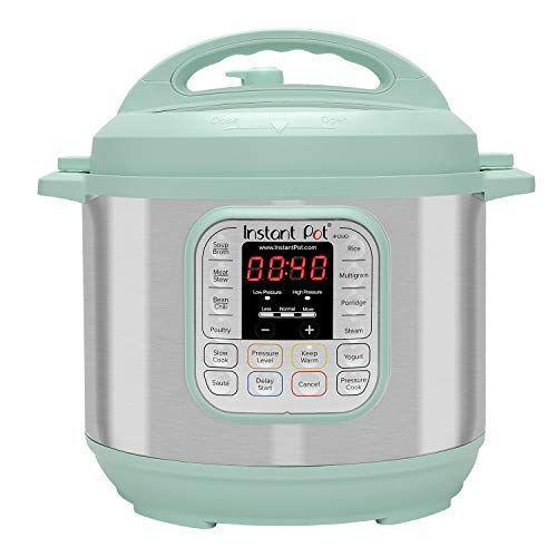 """<p><strong>Instant Pot</strong></p><p>amazon.com</p><p><strong>$99.99</strong></p><p><a href=""""https://www.amazon.com/dp/B07Q6HCH23?tag=syn-yahoo-20&ascsubtag=%5Bartid%7C10055.g.1405%5Bsrc%7Cyahoo-us"""" rel=""""nofollow noopener"""" target=""""_blank"""" data-ylk=""""slk:Shop Now"""" class=""""link rapid-noclick-resp"""">Shop Now</a></p><p>This popular pressure cooker gets dinner ready in a snap, but it also does so much more: slow cooking, rice making, steaming, sautéing, warming, and yogurt making. Now for the first time, it also comes in countertop-worthy colors like teal and red. </p>"""