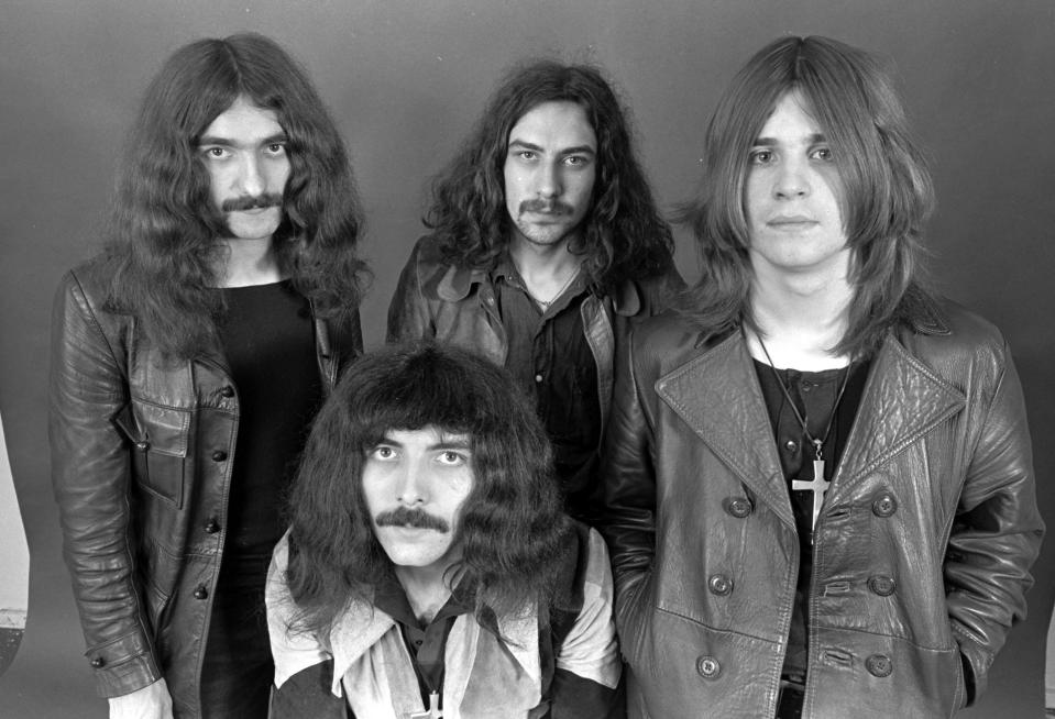 Black Sabbath, 1970: Geezer Butler, Tony Iommi, Bill Ward, Ozzy Osbourne (Photo by Chris Walter/WireImage)