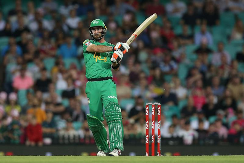 Glenn Maxwell bats during the Big Bash League match between the Sydney Sixers and the Melbourne Stars at Sydney Cricket Ground on January 20, 2020 in Sydney, Australia.