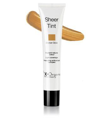 """<p>This lightweight skin tint is ideal for enhancing and evening out your skin tone. It's packed with antioxidants to protect skin from external aggressors, as well as light reflecting pigments that make your skin look brighter and more radiant. <a rel=""""nofollow noopener"""" href=""""http://www.theorganicpharmacy.com/organicglam-makeup/foundation-_and_-concealer/sheer-tint"""" target=""""_blank"""" data-ylk=""""slk:Buy here"""" class=""""link rapid-noclick-resp"""">Buy here</a> </p>"""