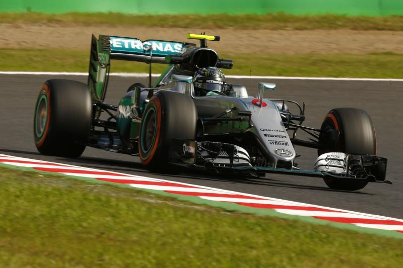 Mercedes wins third straight F1 constructors' championship with a victory in Japan