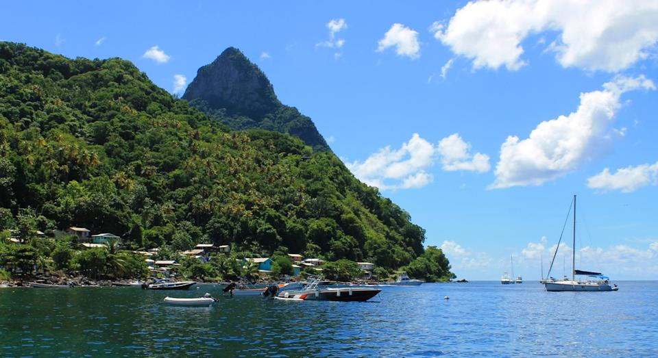Soufriere in St. Lucia was named as the fastest-growing international destination searched by British travellers (Getty)