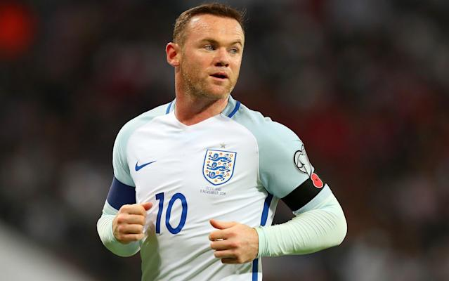Wayne Rooney's final England game will probably contrast that handed out to Germany's Lucas Podolski - Copyright (c) 2016 Rex Features. No use without permission.