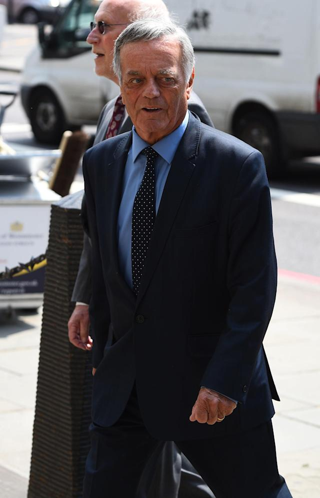 <p>DJ Tony Blackburn joined mourners in central London. (PA) </p>