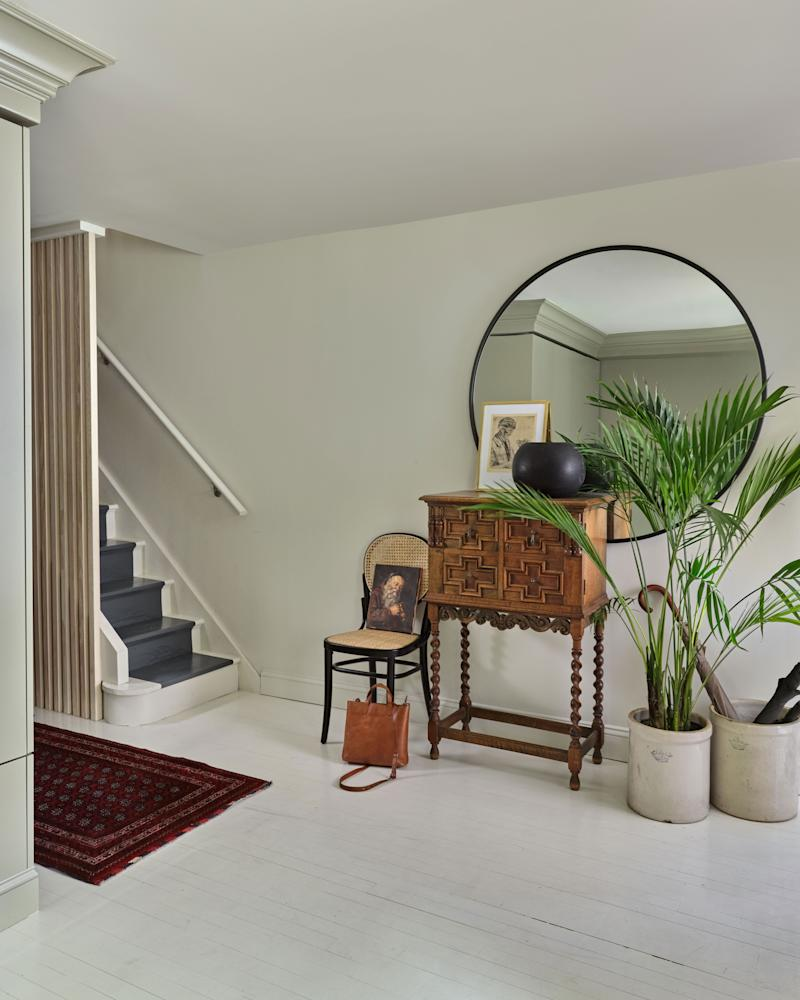 """""""Painting the stairs is a fun way to add a little jazz to a space,"""" says Crystal."""