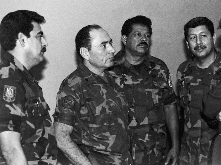 """El Salvador's military <a href=""""http://www.pbs.org/itvs/enemiesofwar/elsalvador2.html"""">committed atrocities throughout the 1980s with U.S. funding</a>."""