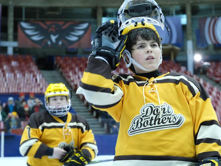 """Brady Noon in a still from """"The Mighty Ducks: Game Changers"""""""
