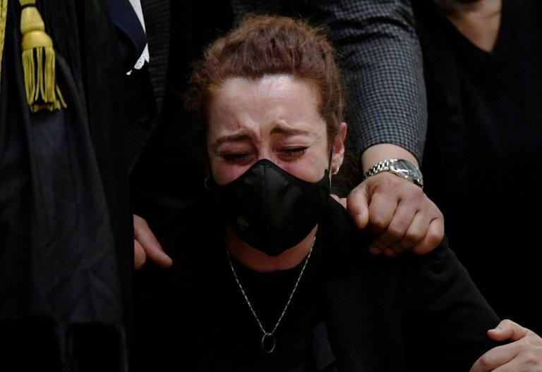The victim's widow Rosa Maria Esilio said the trial had been long and painful, and would not bring back her husband