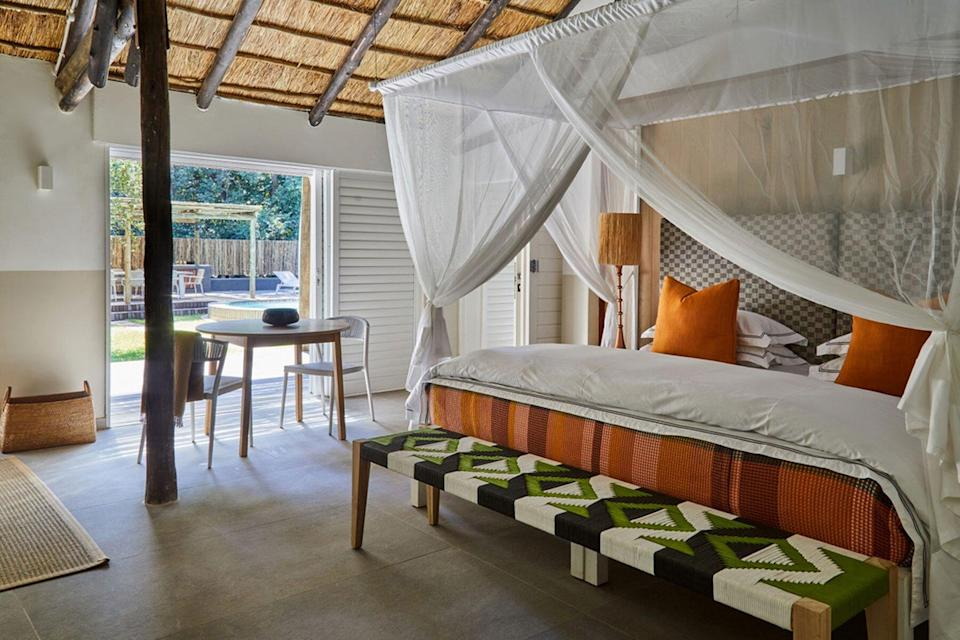 A Director's House bedroom at The Bushcamp Company's Mfuwe Lodge, voted one of the best hotels in the world