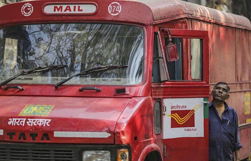 The postman's undelivered letters from over a decade were found in Odhanga, India by schoolchildren who were playing in an abandoned post office after the facility had moved to a new location