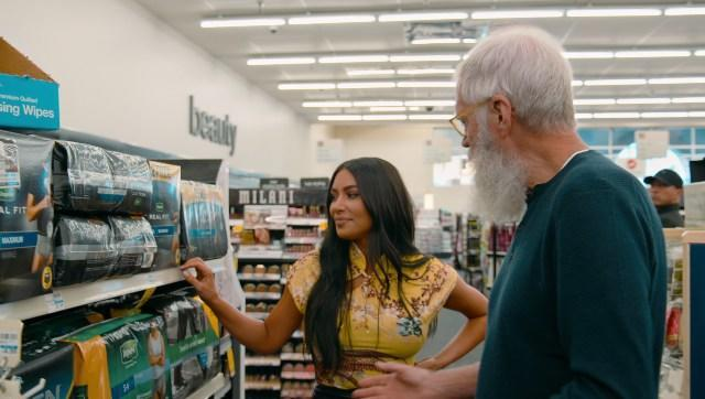 Kim Kardashian West and David Letterman shop for stationary | Image from Twitter