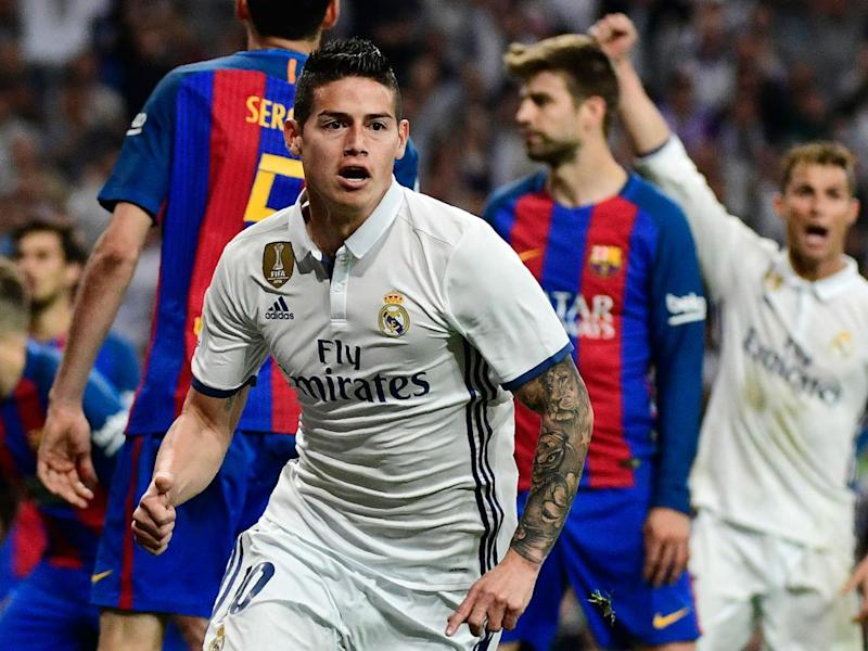 James Rodriguez thought he'd secured a point for Real late on (Getty)