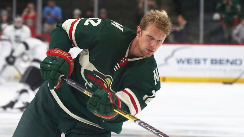 eaa1e5e9b Minnesota Wild s Eric Staal warms up before an NHL hockey game against the  Los Angeles Kings