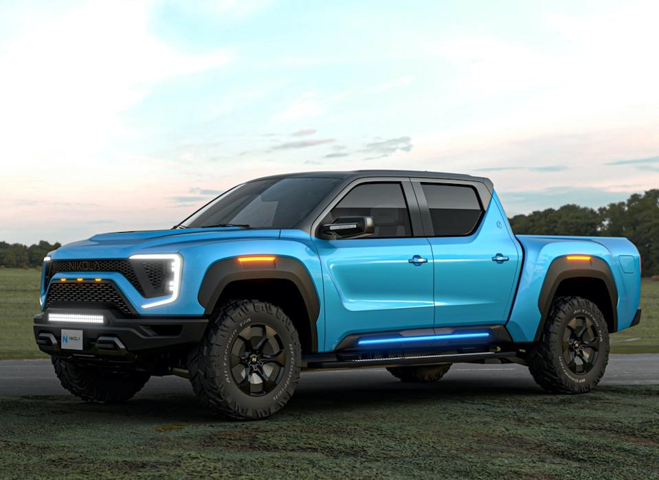 Under the terms of the Nikola and GM deal, GM would provide the propulsion technology and manufacturing capabilities for the Badger pickup. (Image: Nikola)