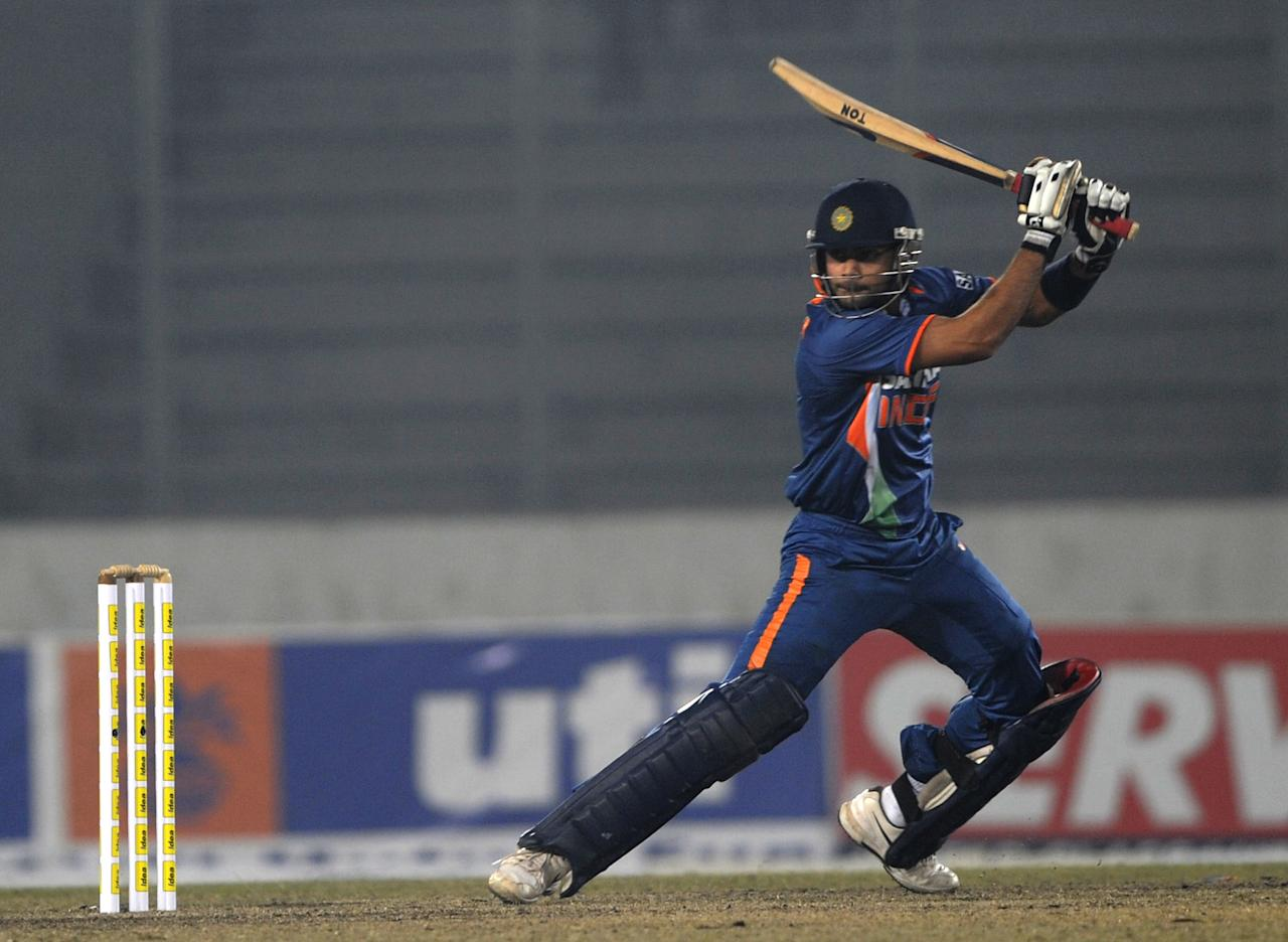 102 vs Bangladesh, January 11, 2010, Mirpur : Buoyed by his success at home, Kohli was beginning to blossom into India's middle-order mainstay, taking over the role Yuvraj Singh had so beautifully pulled off over the years. His 95-ball ton with 11 fours made easy work of the 248-run target Bangladesh had set India. [ Match scorecard ]