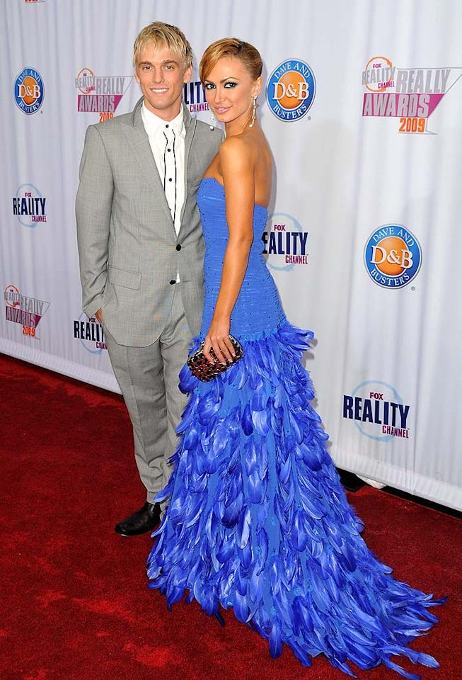 "Aaron Carter attended with his ""Dancing With the Stars"" partner, Karina Smirnoff. The pop singer recently cleared a few things up in <i>Us</i> magazine, saying he's keeping things professional with Karina and that he was only joking when he boasted he would win the show. Jordan Strauss/<a href=""http://www.wireimage.com"" target=""new"">WireImage.com</a> - October 13, 2009"