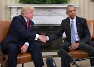 Exactly four years ago, US president Barack Obama greeted president-elect Donald Trump at the White House