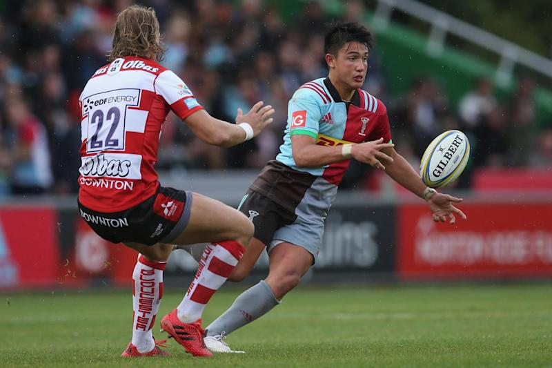 In the thick of it: Marcus Smith: Getty Images for Harlequins