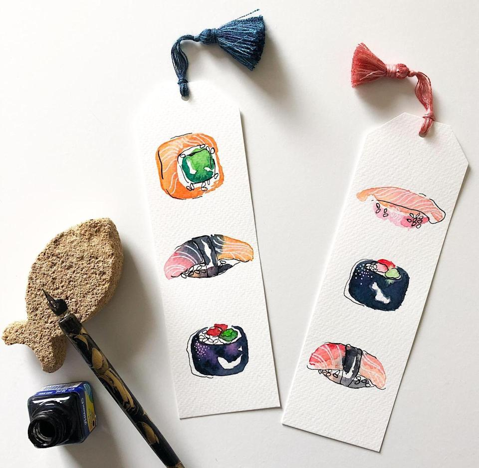 <p>Bookworms will adore these intricate <span>Salty Sushi Bookmarks</span> ($15-$28).</p>