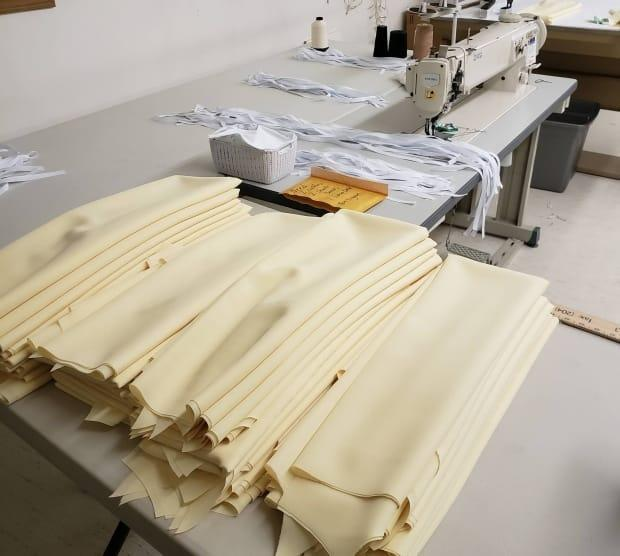 Several Hutterite colonies banded together, while apart, to sew isolation gowns for a personal care home in Winnipeg that was in need.