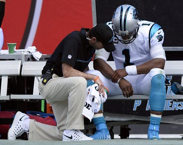 After winning an MVP award in 2015, Cam Newton suffered through his worst season in 2016. (AP)