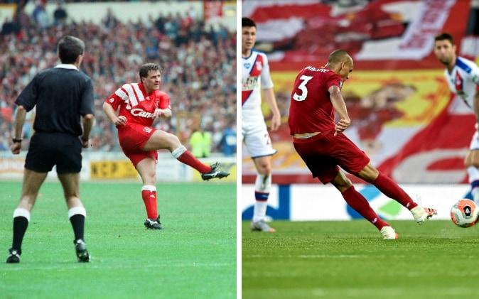 Jan Molby (left) on Fabinho (right) - GETTY IMAGES