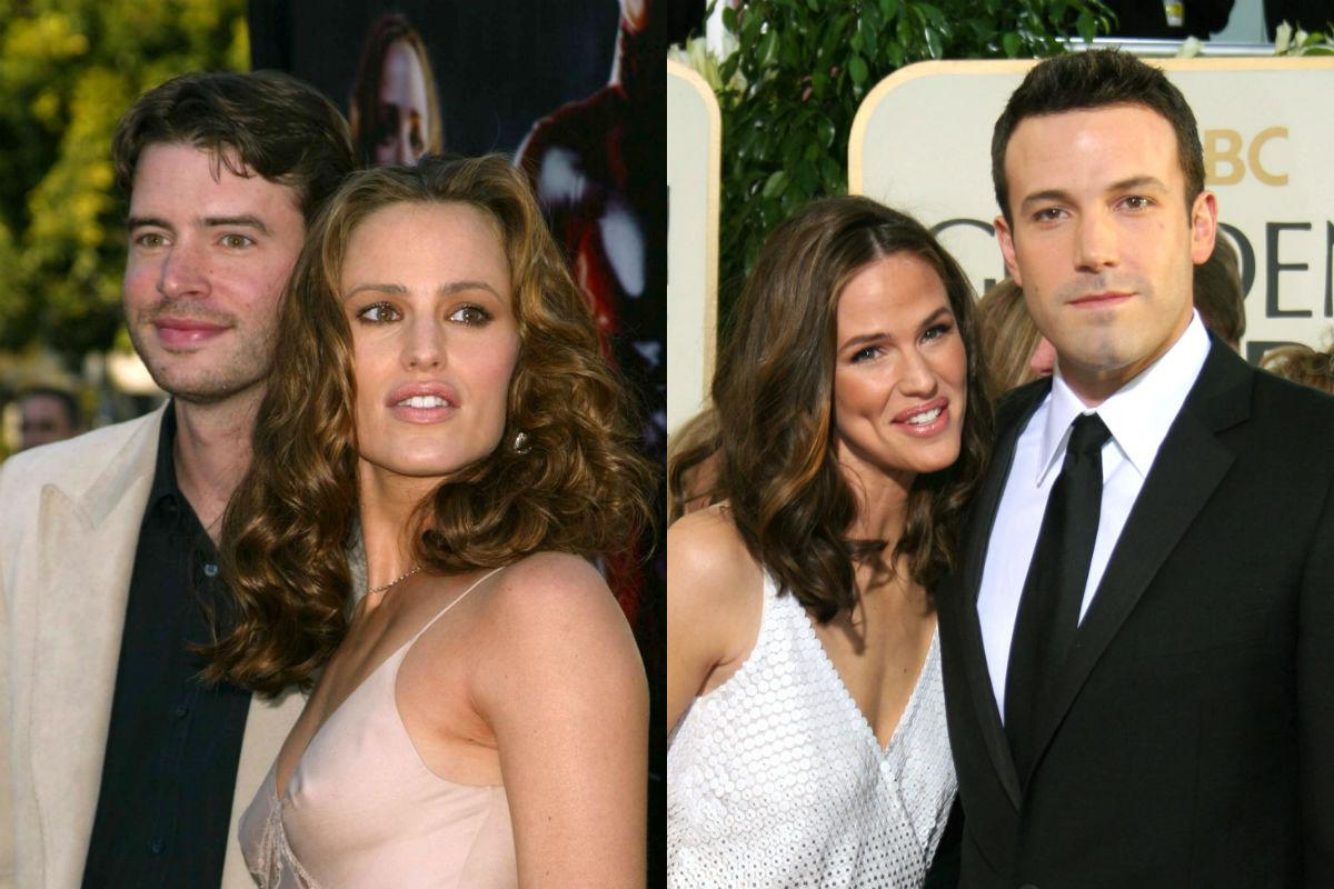 <p>Jennifer Garner and Scott Foley met on the set of J.J. Abrams' late 90s show 'Felicity' (he played Noel Crane, she played his long-distance girlfriend Hanna). The co-stars began dating and married in 2000 but split in 2003, with Foley blaming the fact that Garner's career was rapidly blowing up. She then began dating her 'Alias' co-star Michael Vartan in mid-2003, but that ended in 2004 at which point she started seeing Ben Affleck. They wed in 2005 but split in 2015. Their wedding ceremony had been officiated by 'Alias' co-star Victor Garber.</p>