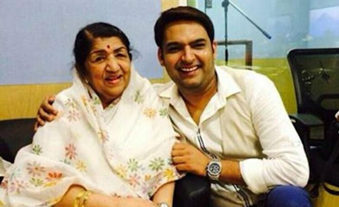 Kapil Sharma and Lata Mangeshkar