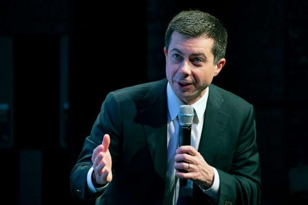 PHOTO: Democratic presidential candidate former South Bend, Ind., Mayor Pete Buttigieg speaks during the New Hampshire Youth Climate and Clean Energy Town Hall, Feb. 5, 2020, in Concord, N.H. (Mary Altaffer/AP)