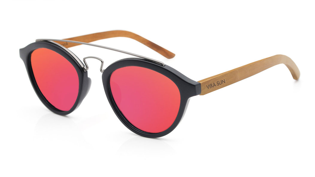 "<p><strong>To buy</strong>: $60; <a href=""https://www.virasun.com/shop/md-black-red-mirror-rosewood"" target=""_blank"">virasun.com</a></p> <p>Mirrored lenses look cool and block UV rays</p>"