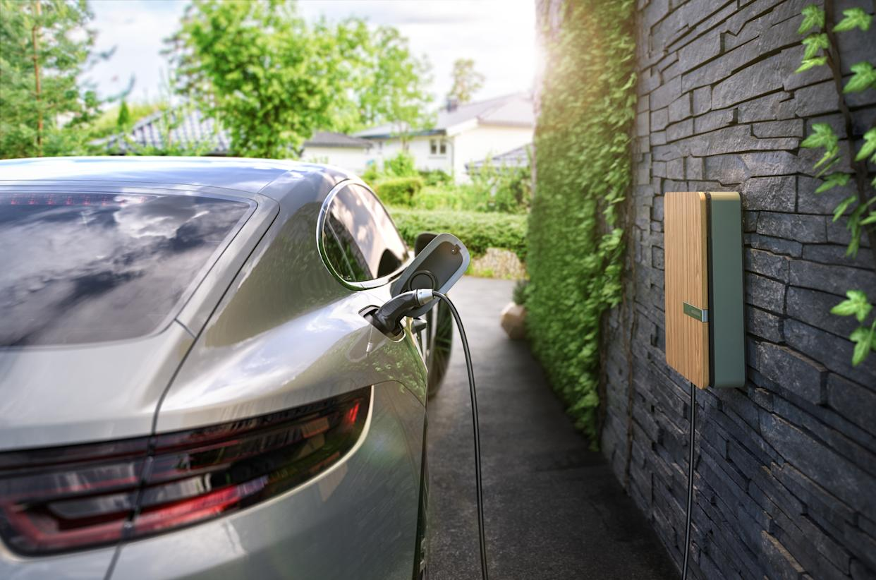 Andersen home charger and Porsche