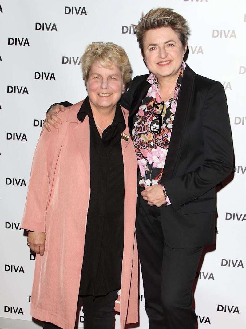 Sandi and Debbie Toksvig at the Diva Magazine Awards last year (Photo: SOPA Images via Getty Images)