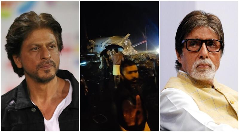 Amitabh Bachchan, Shah Rukh Khan Offer Prayers, Condolences to Bereaved Families Who Lost Their Loved Ones in Air India Express Plane Crash (View Tweets)