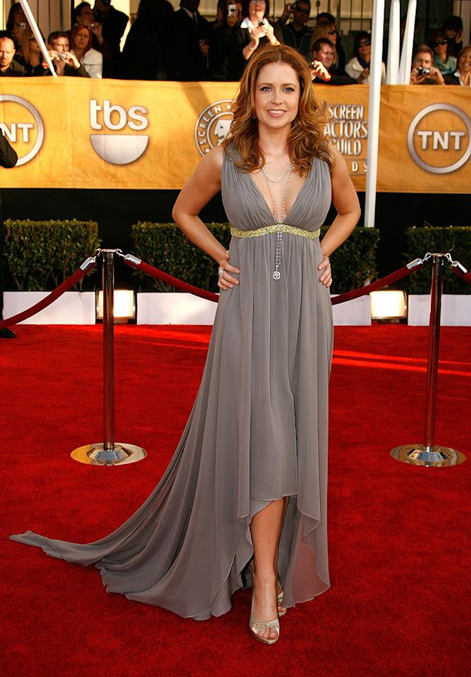 """WORST: <a href=""""http://movies.yahoo.com/movie/contributor/1804724172"""">Jenna Fischer</a> at the 15th Annual Screen Actors Guild Awards in Los Angeles - 01/25/2009"""