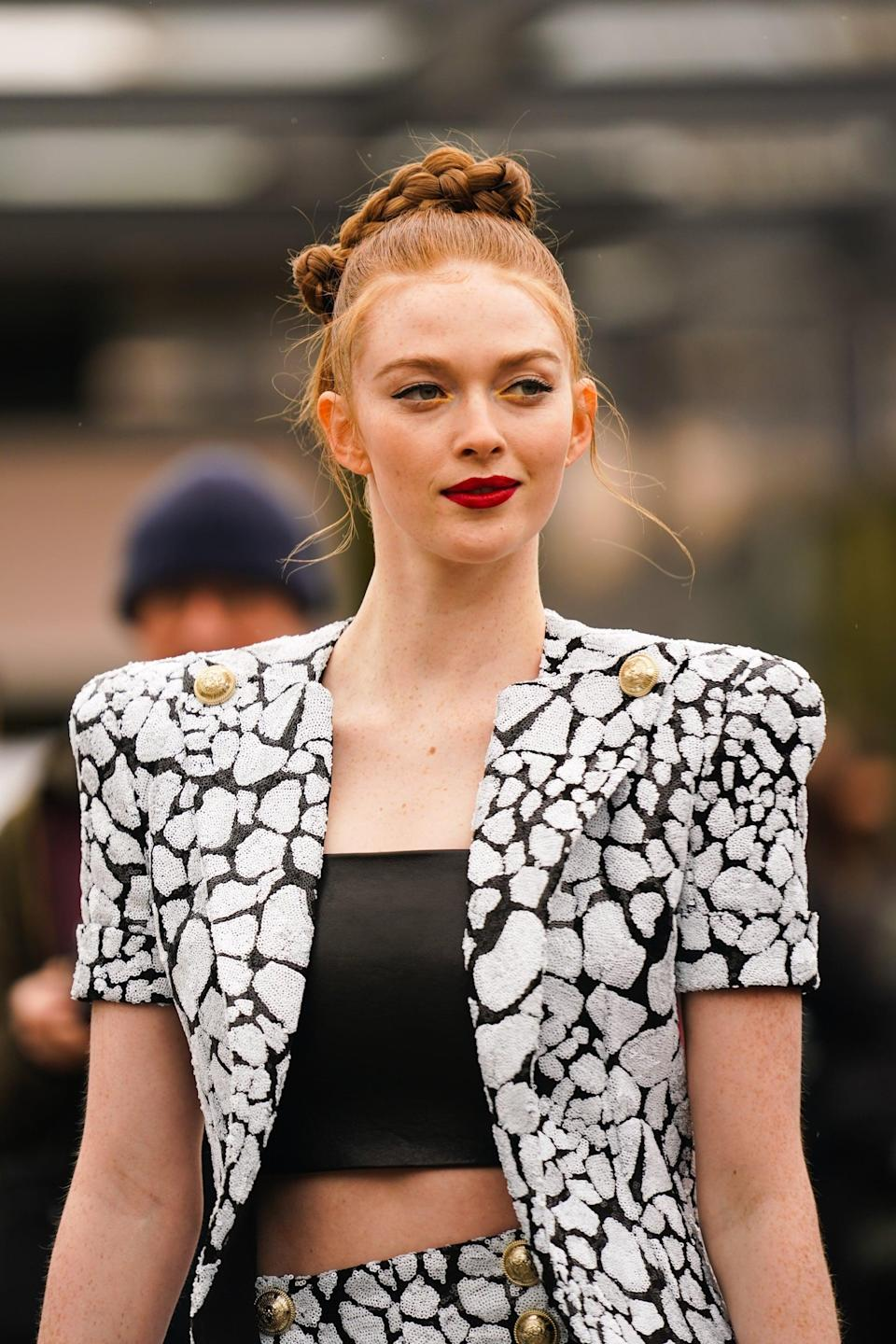 """<p>We're going to see a lot of redheads this spring thanks to Netflix's <strong>The Queen's Gambit</strong>. """"The red color is absolutely gorgeous, whether it is fierce, or if even toned-down shade closer to strawberry,"""" said celebrity hair colorist <a href=""""https://www.instagram.com/auracolorist/"""" class=""""link rapid-noclick-resp"""" rel=""""nofollow noopener"""" target=""""_blank"""" data-ylk=""""slk:Aura Friedman"""">Aura Friedman</a>. """"It really makes the pink undertones in skin pop."""" Just be careful: if you're seeking something low-maintenance this isn't it. Friedman explained you'll want to see your colorist regularly to maintain the shade's brightness. If it's good enough for Beth Harmon, it's good enough for us. </p>"""