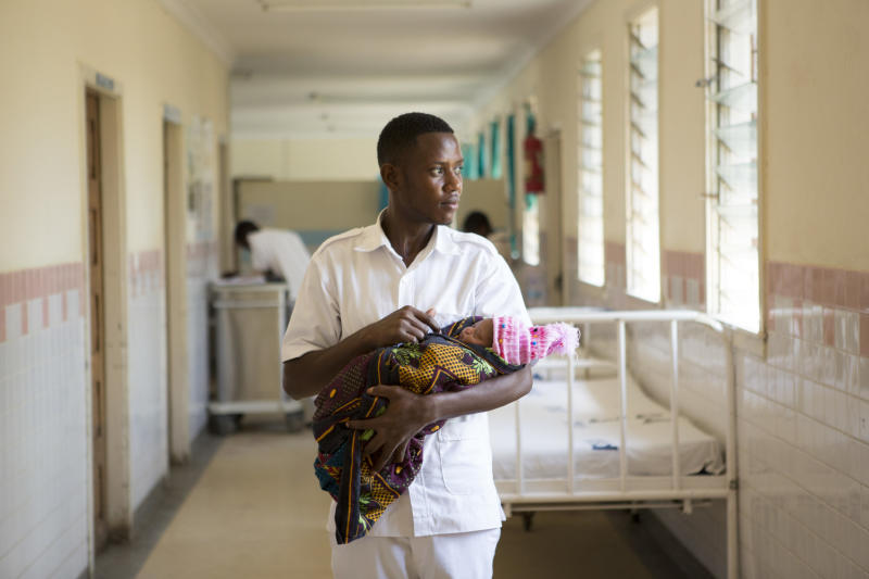A nurse midwife in Tanzania. (WaterAid/ Anna Kari)
