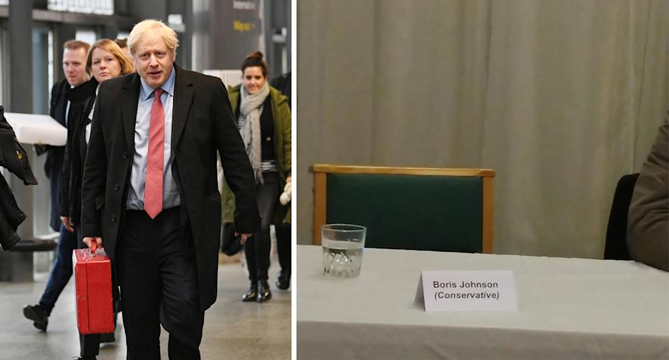 Boris Johnson was empty chaired at yesterday's hustings. (PA Images/@ARMilani_)